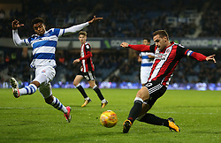 Sheffield United's Billy Sharp in action during the game during the Sky Bet Championship match at Loftus Road, London.