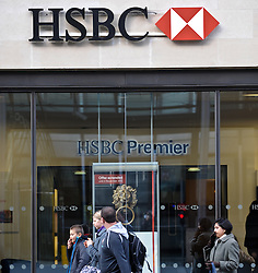 © Licensed to London News Pictures. 05/11/2012. London,UK.Hong Kong Shanghai Banking Corporation (HSBC) branch today in central London.Photo credit : Thomas Campean/LNP.