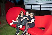 TRISHA JONES; RON ARAD; LEILA ARAD, The Summer Party. Serpentine Gallery. 8 July 2010. -DO NOT ARCHIVE-© Copyright Photograph by Dafydd Jones. 248 Clapham Rd. London SW9 0PZ. Tel 0207 820 0771. www.dafjones.com.