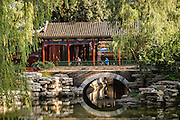 Traditional Chinese pavilion in Zhongshan Park in Beijing, China