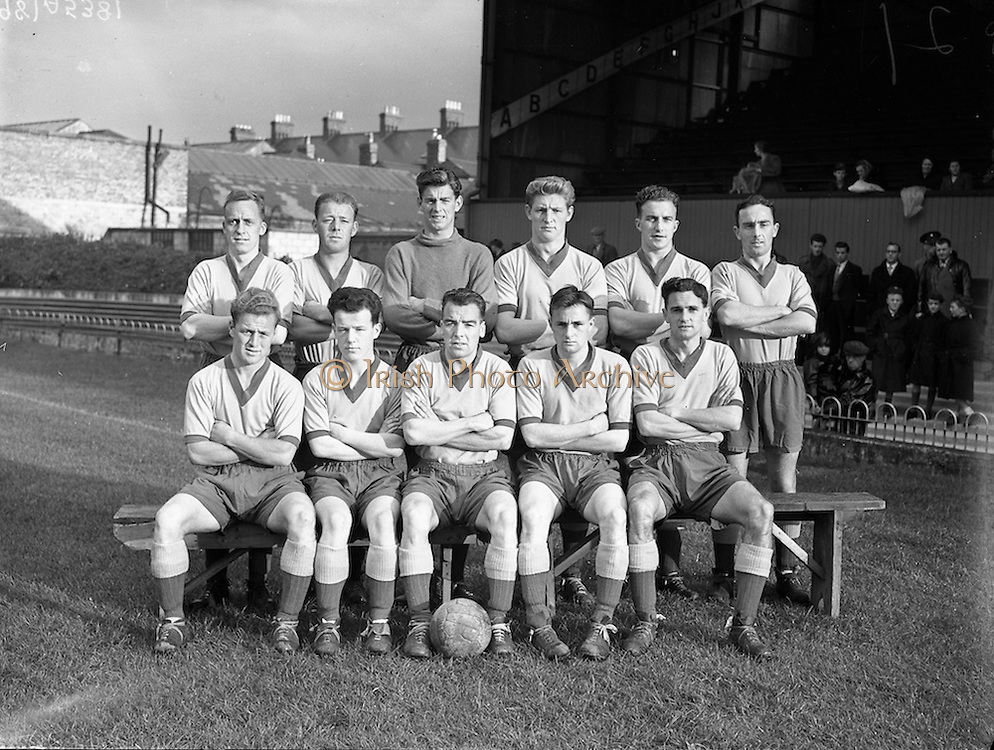 29/08/1956<br /> 08/29/1956<br /> 29 August 1956 <br /> Waterford F.C. v Drumcondra, Dublin City Cup Semi-Final at Dalymount Park, Dublin. The Drumcondra team.