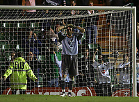 Photo: Lee Earle.<br /> Plymouth Argyle v Cardiff City. Coca Cola Championship. 12/09/2006. Cardiff keeper Neil Alexander looks dejected after Argyle came back from 3-0.