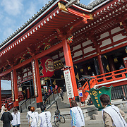 Main courtyard at Senso-ji Temple in the Asakusa district of Tokyo.