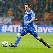 Chelsea's Frank Lampard during their UEFA Champions League Round of 16 First leg soccer match Galatasaray between Chelsea at the AliSamiYen Spor Kompleksi in Istanbul, Turkey on Wednesday 26 February 2014. Photo by Aykut AKICI/TURKPIX