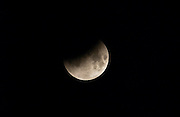 Eclipse of the moon which occurred as a full lunar eclipse viewed just before midnight on the night of 8th/9th November 2003  in Southern England