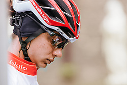 Ashleigh Moolman Pasio ready to race in Ieper - Women's Gent Wevelgem 2016, a 115km UCI Women's WorldTour road race from Ieper to Wevelgem, on March 27th, 2016 in Flanders, Belgium.