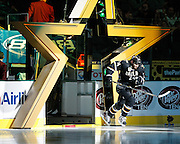 Dallas Stars left wing Eric Nystrom (24) rushes onto the ice during pre-game ceremonies against the St. Louis Blues at the American Airlines Center in Dallas, Texas, on January 26, 2013.  (Stan Olszewski/The Dallas Morning News)