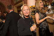AGNES B; KIM HERSOV, Charles Finch and  Jay Jopling host dinner in celebration of Frieze Art Fair at the Birley Group's Harry's Bar. London. 10 October 2012.