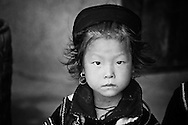 A young Hmong tribe girl in Sapa.