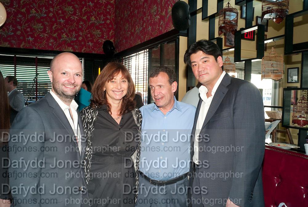 MAGNUS RENFREW; ANITA ZABLUDOWICZ;   POJU  ZABLUDOWICZ; RICHARD CHANG  , Brunch to celebrate the launch of Art HK 11. Miss Yip Chinese Cafe. Meridian ave,  Miami Beach. 3 December 2010. -DO NOT ARCHIVE-© Copyright Photograph by Dafydd Jones. 248 Clapham Rd. London SW9 0PZ. Tel 0207 820 0771. www.dafjones.com.