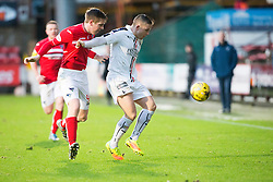 Dunfermline's Lewis Martin and Falkirk's John Baird. Dunfermline 1 v 1 Falkirk, Scottish Championship game played 26/12/2016 at East End Park.