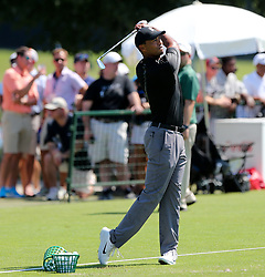 September 19, 2018 - Atlanta, Georgia, U.S. - TIGER WOODS warms up during the practice round at the 2018 TOUR Championship. (Credit Image: © Debby Wong/ZUMA Wire)