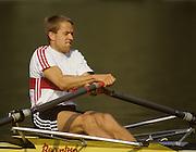 Bled, Slovenia, YUGOSLAVIA. GERLM1X, OTTEN, Alwin, 1989 World Rowing Championships, Lake Bled. [Mandatory Credit. Peter Spurrier/Intersport Images]