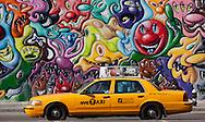 New York, Mural painting in Houston street in Soho Manhattan.