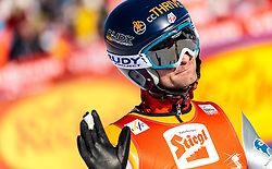 29.01.2017, Casino Arena, Seefeld, AUT, FIS Weltcup Nordische Kombination, Seefeld Triple, Skisprung, im Bild Bryan Fletcher (USA) // Bryan Fletcher of the USA reacts after his Competition Jump of Skijumping of the FIS Nordic Combined World Cup Seefeld Triple at the Casino Arena in Seefeld, Austria on 2017/01/29. EXPA Pictures © 2017, PhotoCredit: EXPA/ JFK