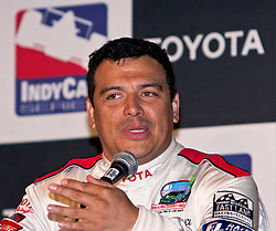 LONG BEACH, CA - APR 18: Comedian Carlos Mencia blames media for his joke about Jamie Little. The whole room exploded in laughter. Carlos Mencia finished third in Celebrity category of the Toyota Pro/Celebrity Race 2009.Mandatory Credit  Photo: © Eduardo E. Silva.
