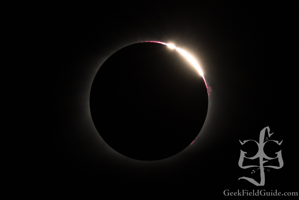 This is pretty much the shot I came for. You can see the diamond ring effect, Baily's Beads, as well as a prominence along the right edge.
