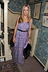 FLORENCE BRUDENELL-BRUCE at a dinner hosted by Edward Taylor and Alexandra Meyers in association with Johnnie Walker Blue Label held at Mark's Club, 46 Charles Street, London W1 on 26th April 2012.
