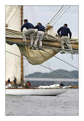 The Round Cumbraes race at Larsg starting the 3rd Fife Regatta..Bow crews on Adix get prepared....* The Fife Yachts are one of the world's most prestigious group of Classic .yachts and this will be the third private regatta following the success of the 98, .and 03 events.  .A pilgrimage to their birthplace of these historic yachts, the 'Stradivarius' of .sail, from Scotland's pre-eminent yacht designer and builder, William Fife III, .on the Clyde 20th -27th June.   . ..More information is available on the website: www.fiferegatta.com . .Press office contact: 01475 689100         Lynda Melvin or Paul Jeffes
