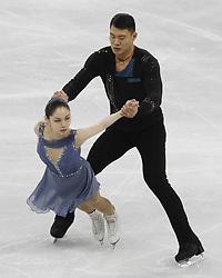 February 15, 2018 - Pyeongchang, KOREA - Xiaoyu Yu and Hao Zhang of China compete in pairs free skating during the Pyeongchang 2018 Olympic Winter Games at Gangneung Ice Arena. (Credit Image: © David McIntyre via ZUMA Wire)