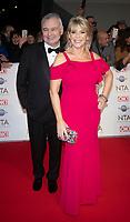 Eamonn Holmes and Ruth Langsford at the 25th National Television Awards, Arrivals, O2, London, UK 28 Jan 2020  photos by Brian Jordan