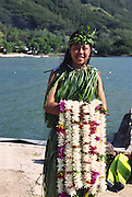 Lei Greeter, French Polynesia (editorial use only, not model released<br />