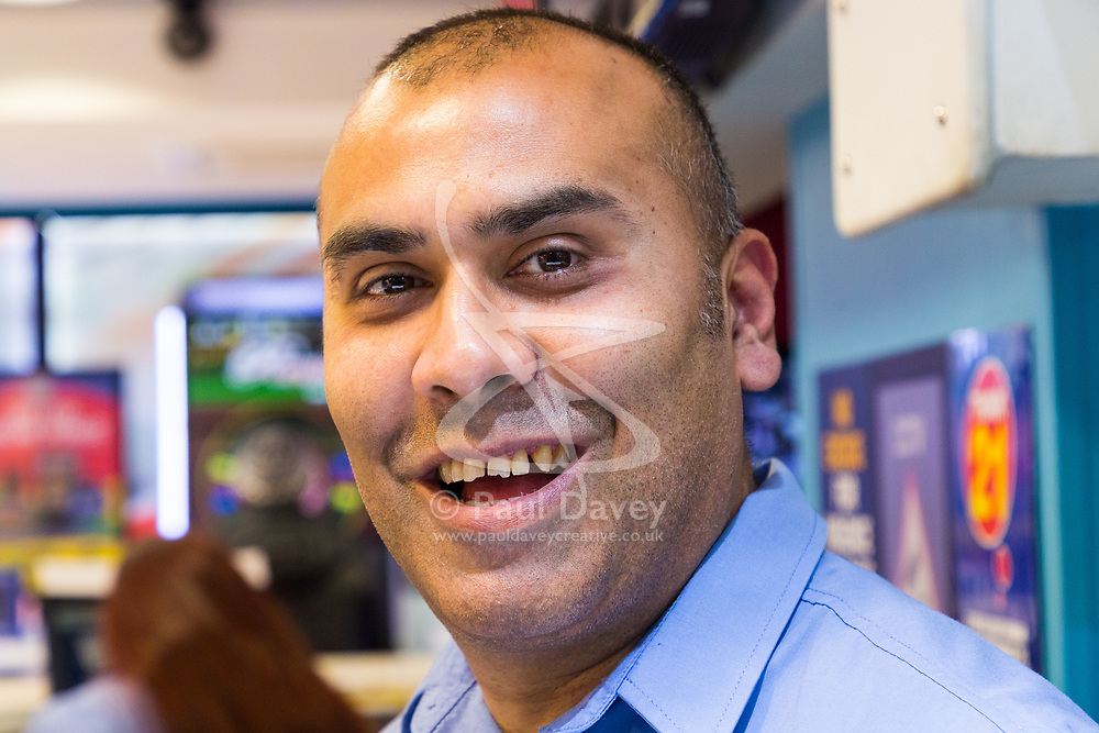 Betting Shop Manager-of-the-Year finalist Amran Al-Haque at Coral, 1 Canada Square, Canary Wharf, London, November 08 2018.