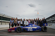 April 1, 2016; Indianapolis, Ind.; The UAA women's basketball team poses for a team photo at the Women's Final Four Salute at the Indianapolis Motor Speedway.