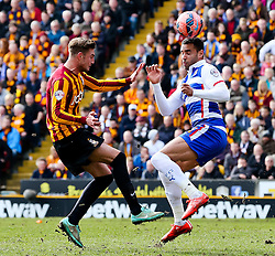 Bradford City's Gary Liddle and Reading's Hal Robson-Kanu  - Photo mandatory by-line: Matt McNulty/JMP - Mobile: 07966 386802 - 07/03/2015 - SPORT - Football - Bradford - Valley Parade - Bradford City v Reading - FA Cup - Quarter Final