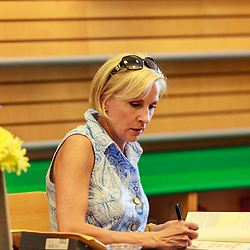Lancaster, PA, USA / May 28, 2011: Mika Brzezinski signs her book at a book signing appearance at the Barnes and Noble store.