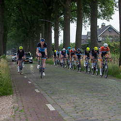 VELDHOVEN (NED) July 4 <br /> CYCLING <br /> The first race of the Schwalbe Topcompetition the Simac Omloop der Kempen<br /> Kopgroep op de kasseien ri Bladel