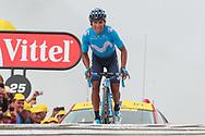 Arrival, Nairo Quintana (COL - Movistar) winner during the 105th Tour de France 2018, Stage 17, Bagneres de Luchon - Col du Portet (65 km) on July 25th, 2018 - Photo George Deswijzen / Pro Shots / ProSportsImages / DPPI