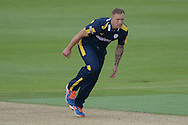 Hampshire all-rounder Gareth Andrew bowling during the Royal London One Day Cup match between Hampshire County Cricket Club and Essex County Cricket Club at the Ageas Bowl, Southampton, United Kingdom on 5 June 2016. Photo by David Vokes.