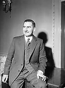 21st January 1955<br /> <br /> Fashion designer Raymond Kenna attends his show at the Shelbourne Hotel, Dublin.