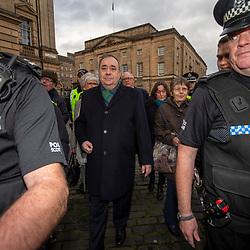 Alex Salmond arrives at the High Court in Edinburgh