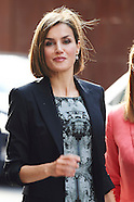 060915 Queen Letizia attend de Business Meeting of the Spanish Association Against Cancer