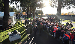 President elect Michael D Higgins attends an Irish state ceremony at Glasnevin cemetery in Dublin, to mark the 100th anniversary of the signing of the Armistice which marked the end of the First World War.