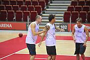 Danzica - Polonia 03 Agosto 2012 - Nazionale Italia Maschile Allenamento - <br /> Nella Foto : MARCO CUSIN DANILE HACKETT <br /> Foto Ciamillo