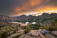 Sunrise over Island Lake and Fremont Peak, Bridger Wilderness, Wind River Range Wyoming