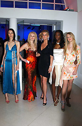 Centre Model RACHEL HUNTER (in black) with contestants from her TV show 'Make me a Supermodel' EMILY MANN, JOANNE DOWNES, ANTOINETTE WILLIAMS and SAM ROWLEY at the Art Plus Dance Party 2005 - an evening of live dance, film and partying held at the Whitechapel Art Gallery, 80-82 Whitechapel High Street, London on 21st March 2005.<br /><br />NON EXCLUSIVE - WORLD RIGHTS