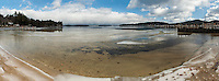 Fluctuating weather patterns bring a January thaw to Lake Winnipesaukee in Gilford, New Hampshire.   Karen Bobotas Photographer
