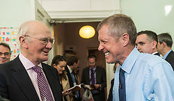 Willie Rennie visits mental health charity, Health In Mind and takes part in painting Liberal Democrat Logos before officially launching the Manifesto for the 2017 General Election.<br /> <br /> Pictured: Menzies Campbell and Willie Rennie