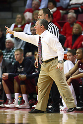 02 February 2013:  Barry Hinson barks some directions to the Salukis during an NCAA Missouri Valley Conference mens basketball game where the Salukis of Southern Illinois lost to the Illinois State Redbirds for Retro-Night 83-47 in Redbird Arena, Normal IL