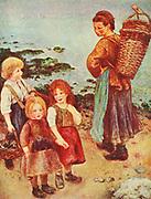 Perre Auguste Renoir: The mussel fishers at berneval 1879