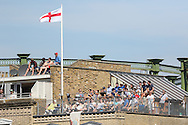 Fans enjoying cricket from the rooftop during the third day of the 5th Investec Ashes Test match between England and Australia at The Oval, London, United Kingdom on 22 August 2015. Photo by Ellie Hoad.
