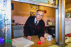 Paul Bennett, 59, the Relief Sub Post Office Master at Stone Quarry Sub Post Office in East Grinstead, East Sussex has successfully faced down 14 robbery attempts over the years. East Grinstead, December 05 2018.