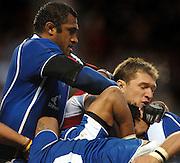 2005 Rugby, Investec Challenge, England vs Manu Samoa, left Samoen XXX and left James Forrester,  RFU Twickenham, ENGLAND:     26.11.2005   © Peter Spurrier/Intersport Images - email images@intersport-images..