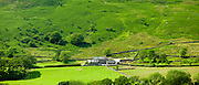 Hill farm smallholding in Hard Knott Pass near Eskdale in the Lake District National Park, Cumbria, UK