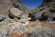Las Hediondas thermal springs in the Cordillera de los Andes (High Andes), inland from La Serena, and up the hill from Pisco Elqui, near the Chilean border with Argentina