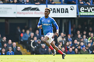 Portsmouth Midfielder, Jamal Lowe (10) during the EFL Sky Bet League 1 match between Portsmouth and Rochdale at Fratton Park, Portsmouth, England on 13 April 2019.
